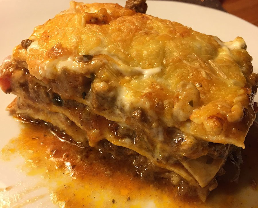 Rezept Lasagne bolognese lowcarb glutenfrei