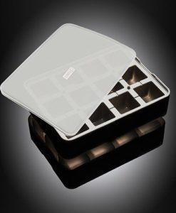 Lurch Flexiform ICE FORMER Würfel 4x4cm schwarz transparent für Eiswürfel, Pralinen und Desserts