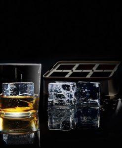 Lurch Flexiform ICE FORMER Würfel 5x5cm schwarz transparent für XXL Eiswürfel, Pralinen und Desserts