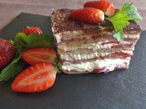 Rezept Erdbeer-Lasagne lowcarb glutenfrei