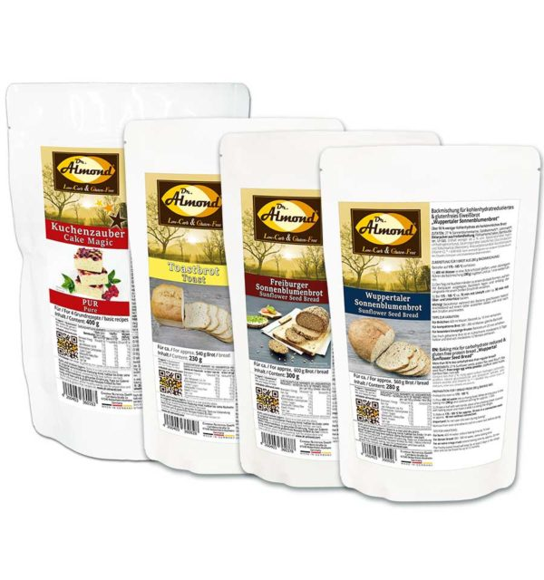 Starter-Set BROTE und KUCHEN low carb glutenfrei zuckerfrei Backmischung