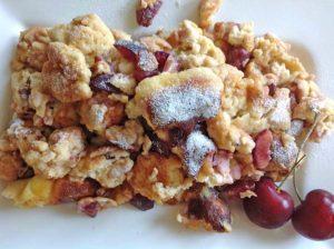 Rezept Kirschen-Schmarrn mit Skyr lowcarb glutenfrei