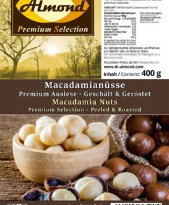 Macadamianuesse geroestet ohne Salz keto Snack low carb