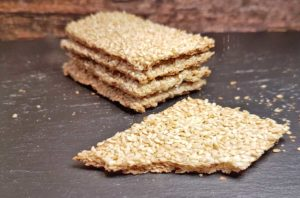Rezept Sesam-Knäckebrot lowcarb glutenfrei