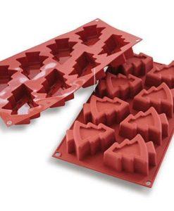 214-00_Silikomart SF108 PINO Tannenbäume Tannenmuffins Silikonform Weihnachten