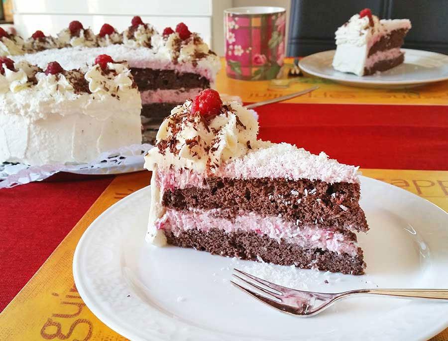 Rezept Himbeer Kokos Torte Lowcarb Glutenfrei Dr Almond Lowcarb