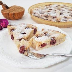 Rezept-Buttermilchkuchen-mit-Kirschen-lowcarb-glutenfrei-zuckerfrei