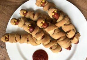 Rezept Mumienwürstchen für Halloween lowcarb glutenfrei