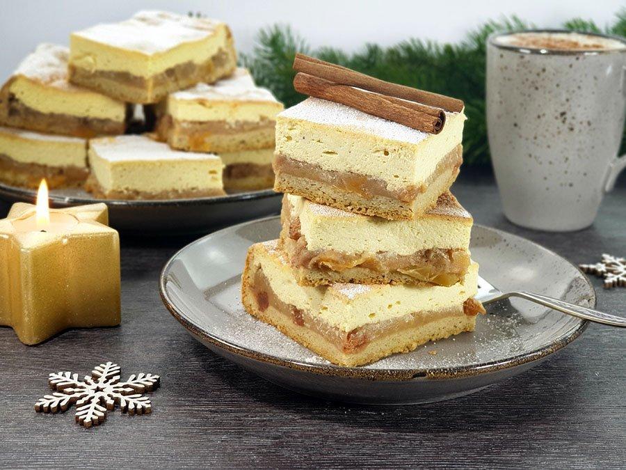 Rezept-Weihnachtlicher-Bratapfel-Kaesekuchen-mit-Stollenboden-zuckerfrei-xmas