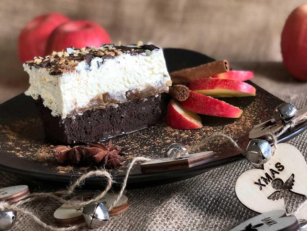 Rezept Brownie-Bratapfel-Tiramisu lowcarb glutenfrei