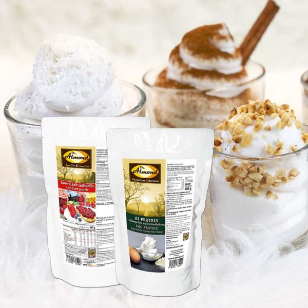 Spar-Set-Eiweiss-Fluff Proteinschnee Proteinfluff Eiweissfluff lowcarb keto kalorienarm OHNE IMOs
