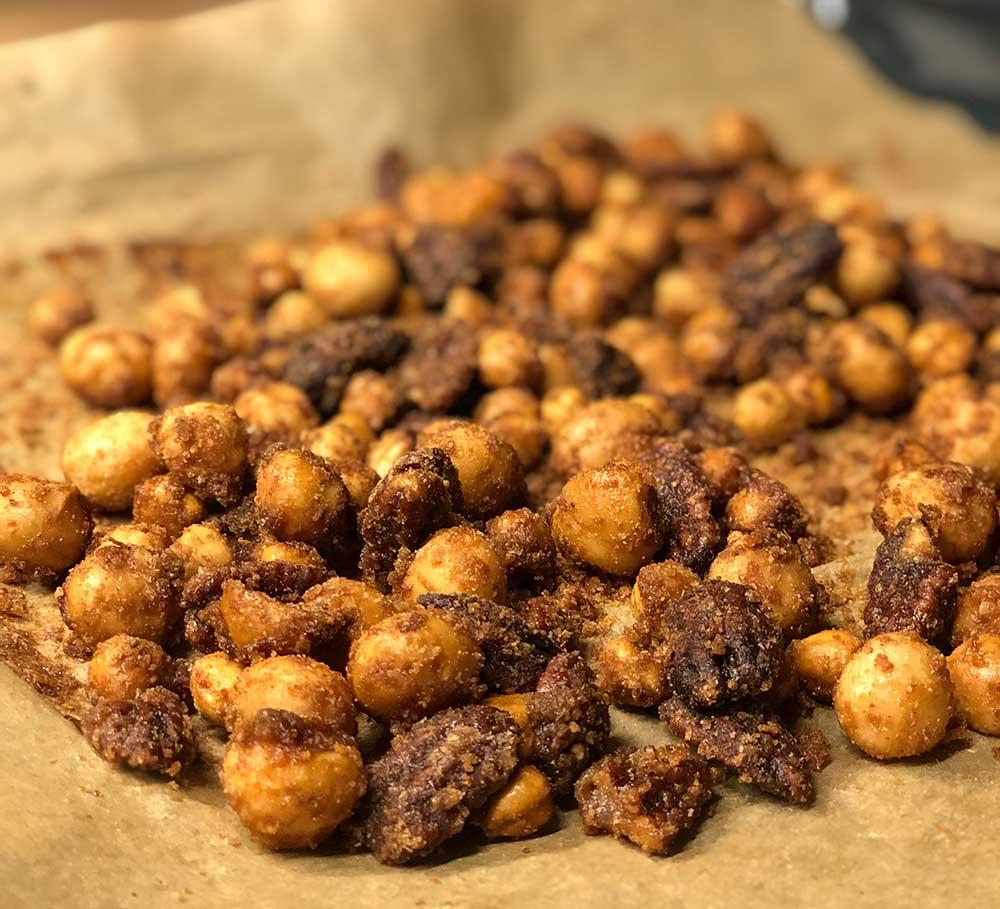 Rezept gebrannte karamellisierte Nüsse lowcarb