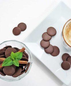CHOKETO Taler zum Naschen VOLLMILCH - low carb & keto Schokolade - handgemacht - Schokoladenchips Snack zuckerfrei