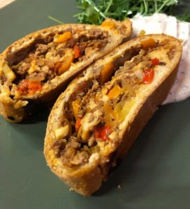 Rezept Hackfleisch-Gemüse-Strudel low carb glutenfrei