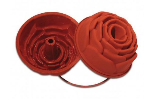 SFT251 - SILICONE MOULD ROSE ø220 H100 MM Terracotta