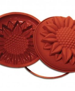 SFT252 - SILICONE MOULD SUNFLOWER ø260 H 70 MM Terracotta
