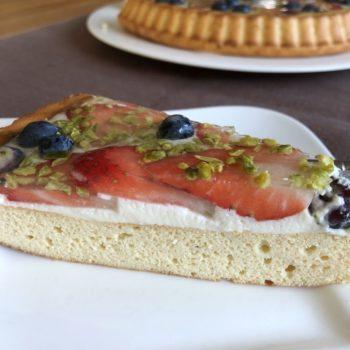 Rezept Früchte-Quark-Kuchen mit Joghurt-Panna-Cotta Spiegel - lowcarb glutenfrei