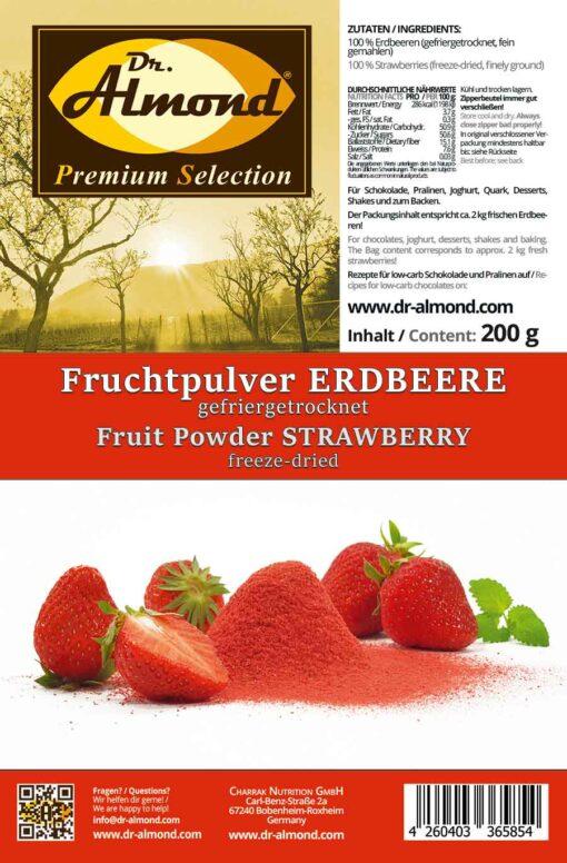 Fruchtpulver ERDBEERE Erdbeerpulver gefriergetrocknet 100% Natur