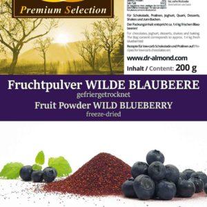 Fruchtpulver WILDE BLAUBEERE Blaubeerpulver gefriergetrocknet 100% Natur