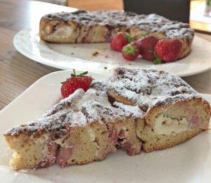 Rezept Erdbeer-Brioche-Kuchen lowcarb glutenfrei keto kalorienarm