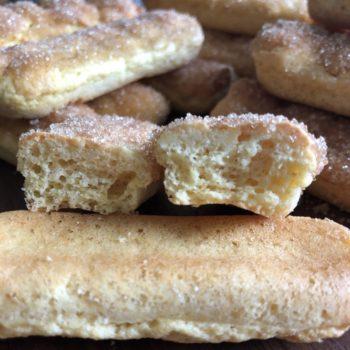 Grundrezept Löffelbiskuit Biskuitstäbchen lowcarb glutenfrei