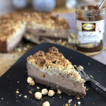 Rezept NUKETO Cheesecake mit Haselnuss-Streuseln lowcarb zuckerfrei keto