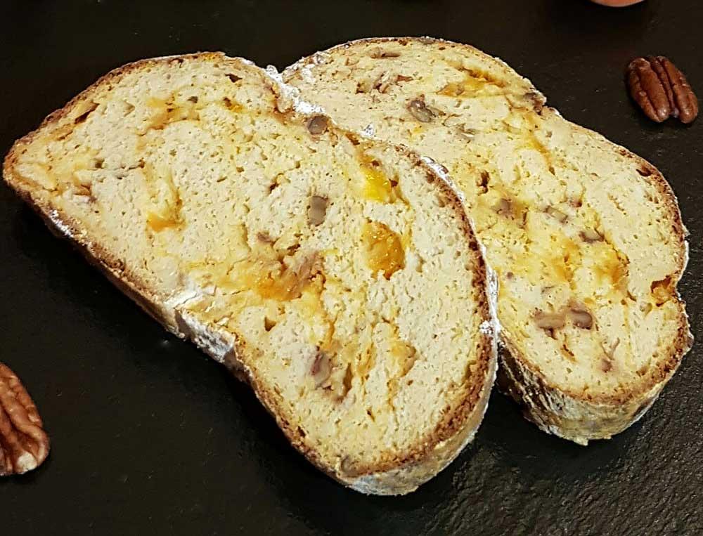 Rezept Marillen-Aprikosen Pekanuss Brioche lowcarb glutenfrei kalorienarm