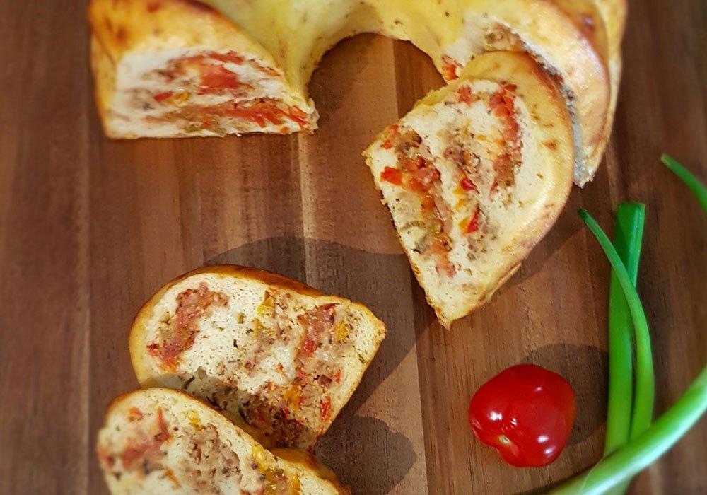Rezept Pikanter Sommergugelhupf lowcarb glutenfrei