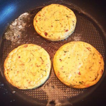 Rezept Zucchini Pancakes mit Mango - Salsa lowcarb glutenfrei