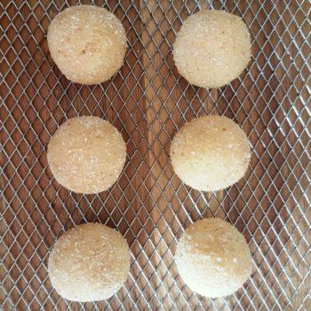 Rezept Quarkknödel aus dem Backrohr mit Zwetschgenpudding an Rotweinzwetschgen lowcarb glutenfrei