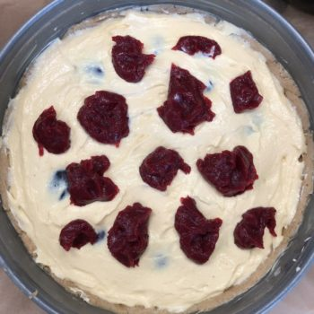 Rezept Pflaumen-Käsekuchen mit Baiserhaube lowcarb glutenfrei