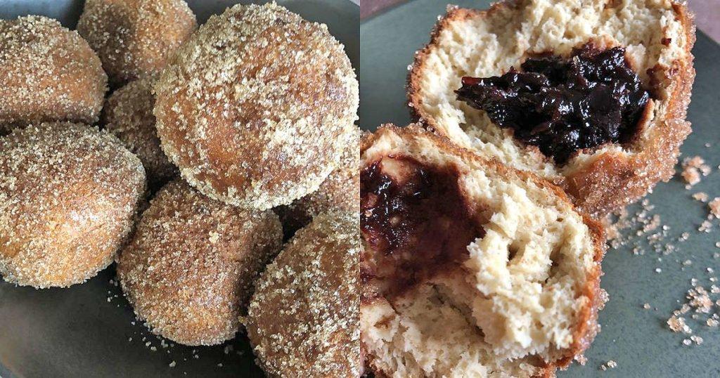 Rezept Quarkbälle mit Powidl Fülle aus dem Airfryer lowcarb glutenfrei kalorienarm