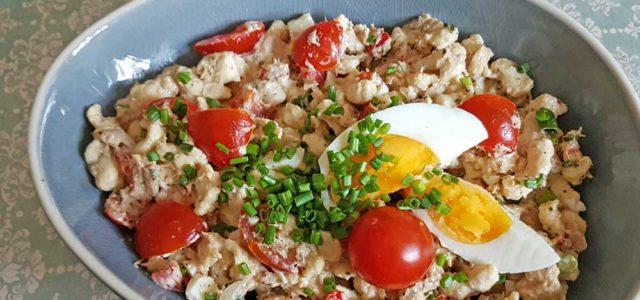 Rezept Spätzle Thunfischsalat mit Sauerrahmdressing lowcarb glutenfrei