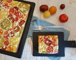 Rezept Pikanter Tomatenkuchen lowcarb glutenfrei