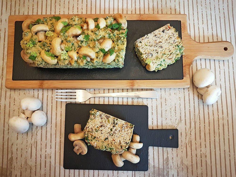Rezept Champignonkuchen mit Cheddar lowcarb glutenfrei keto kalorienarm