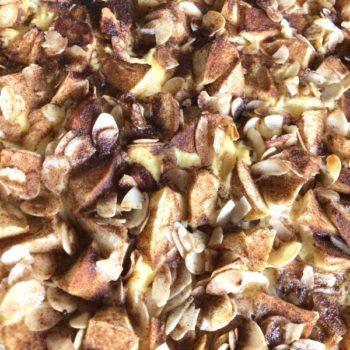 Rezept Bratapfel-Karamell-Butter-Kuchen lowcarb glutenfrei