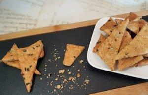 Rezept Cracker mit Kürbiskernen lowcarb glutenfrei keto kalorienarm