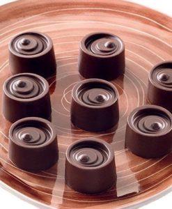 243-00_Silikomart SCG04 VERTIGO Silikonform Pralinenform low carb Schokolade