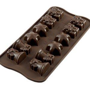 244-00_Silikomart SCG06 CHRISTMAS Silikonform Pralinenform low carb Schokolade