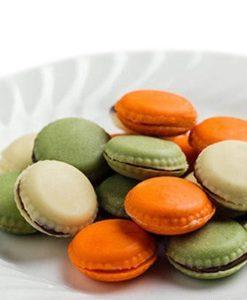 246-00_Silikomart SCG21 CHOCO MACARON Silikonform Pralinenform low carb Schokolade