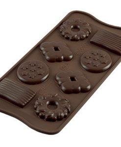 249-00_Silikomart SCG25 CHOCO BISCUIT Silikonform Pralinenform low carb Schokoladenkeks