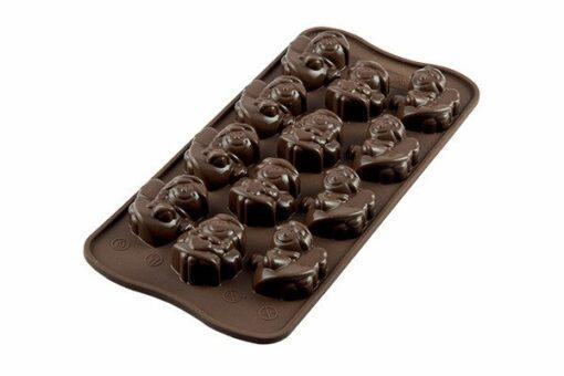 250-00_Silikomart SCG27 CHOCO ANGELS Silikonform Pralinenform low carb Schokolade