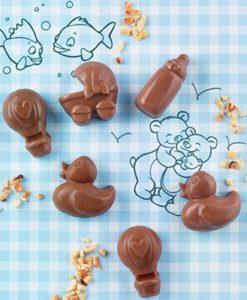 252-00_Silikomart SCG31 CHOCO BABY Silikonform Pralinenform Baby-Motive low carb Schokolade Pralinen