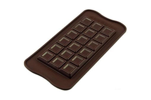 256-00_Silikomart SCG37 TABLETTE CHOCO BAR Silikonform 154 x 77 H 9 mm Schokoladenform Tafel extra dick 91 ml low carb keto Schokolade