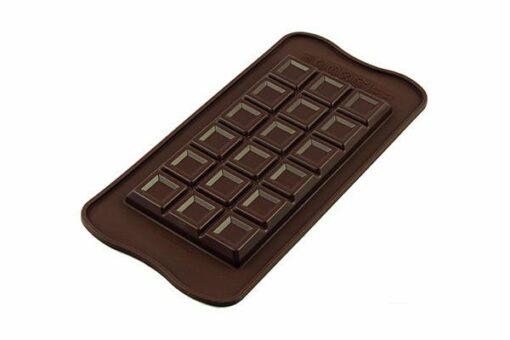 256-00_Silikomart SCG37 TABLETTE CHOCO BAR Silikonform 154 x 77 H 9 mm Schokoladenform Tafel extra dick 91 ml low carb keto Schokolade