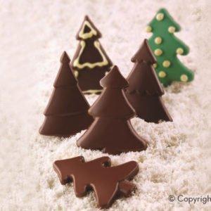 261-00_Silikomart SCG46 CHOCO PINE Silikonform Schokoladenform Tannenbäume 56 ml_low carb Schokolade keto