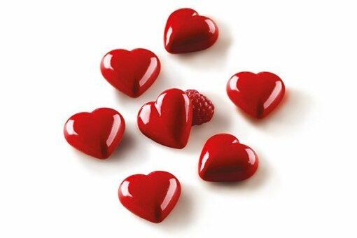 263-00_Silikomart SCG 48 MY LOVE 3D Pralinenform Herzen 96 ml low carb Pralinen keto