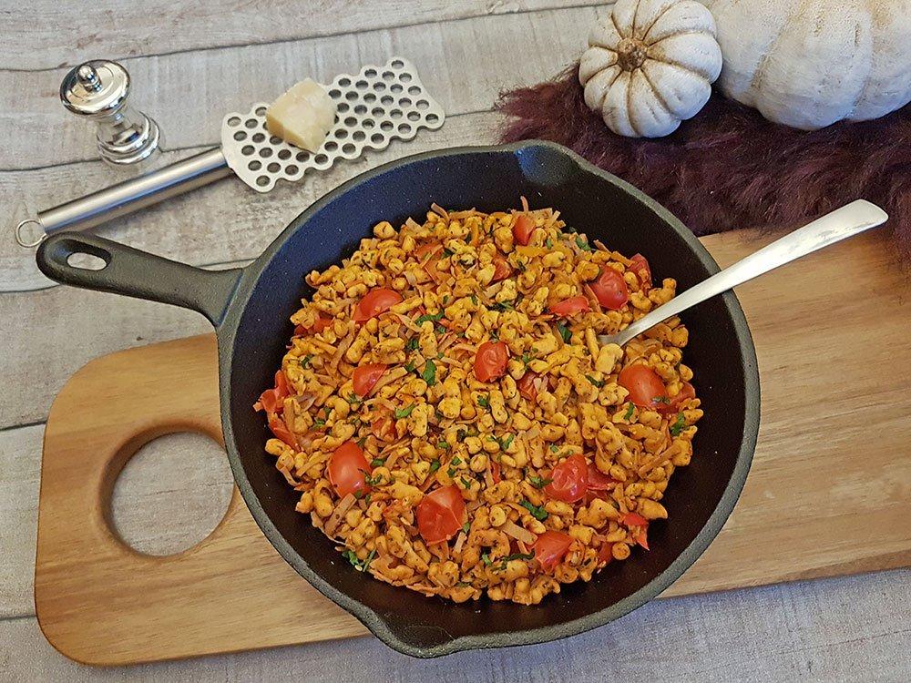 Rezept Kürbis Spätzlepfanne lowcarb glutenfrei