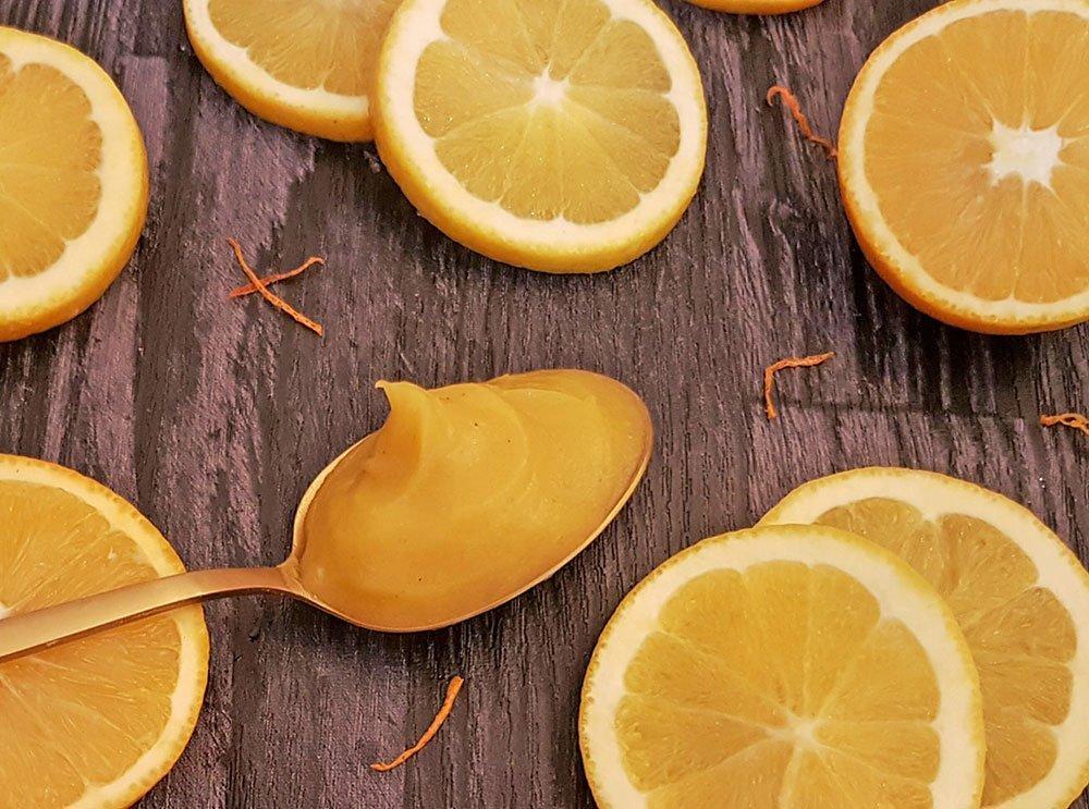Rezept Orangencreme für Torten, Desserts, Eis, Fluff lowcarb glutenfrei