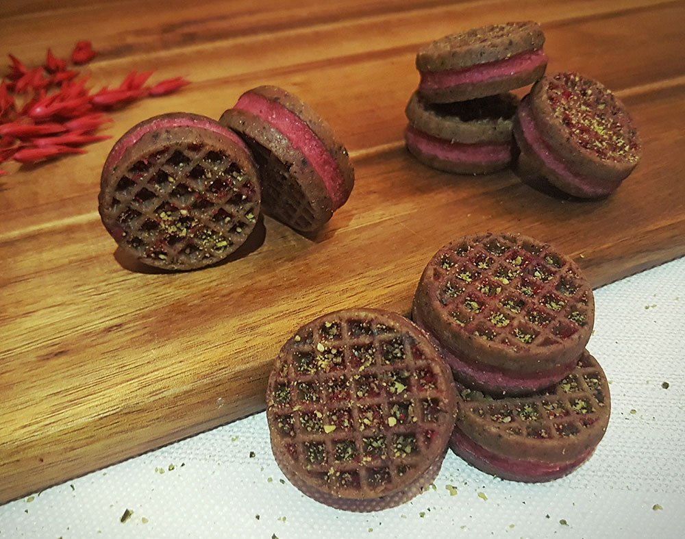 Rezept Spekulatius Kürbiskern Himbeer Cookies lowcarb glutenfrei keto
